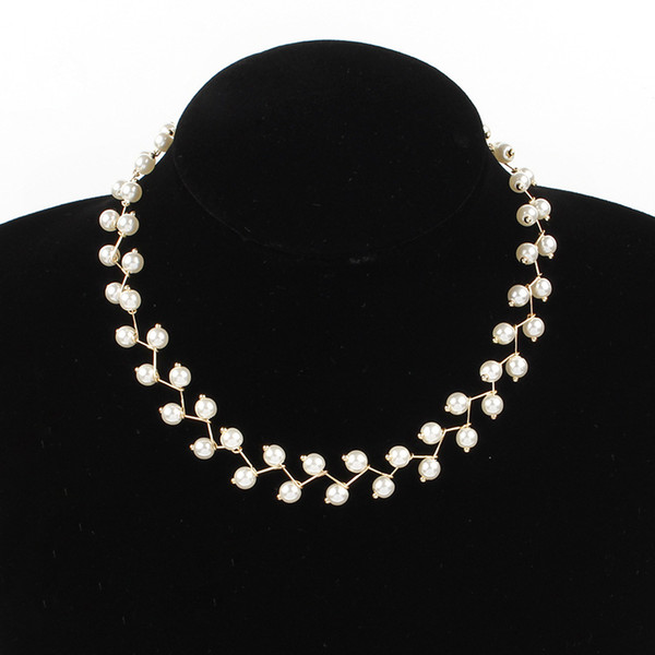 Pearl collar bone chain female choker with contracted neck short necklace, jewelry Korea neck collar with han edition