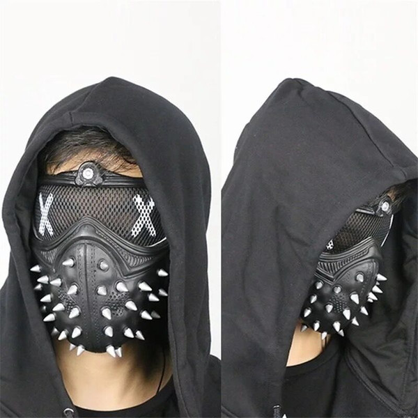 Hot sale Christmas Halloween punk devil game mask, face mask, rivets, cool fashion, fashion and creativity