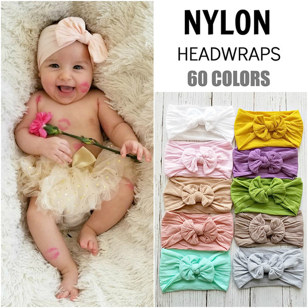 American sell like hot hot euramerican new-style Bohemian style children hair takes baby nylon stockings bowknot wide hair hoop