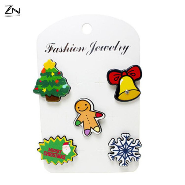 Christmas Brooch, acrylic dress, high quality explosion accessories
