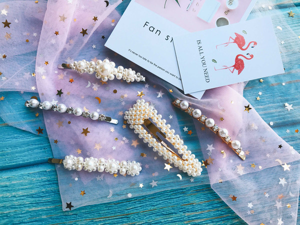 2019!Pearl Hair Pin For Wedding Fashion Alloy Hair Clips Lady Hair Jewelry Hairpin.hairpin wholesale.