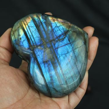 150g-500g natural labradorite ornaments, labradorite heart-shaped ornaments