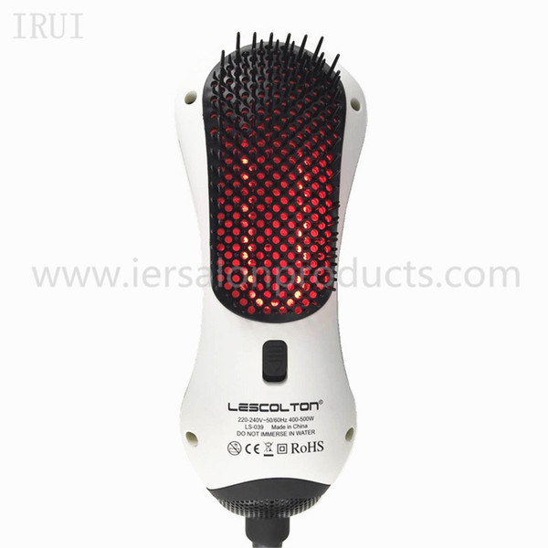 1S-039 3 in 1 Far infrared Hair Dryer Brush hot air brush Hair Straightener Brush 400W