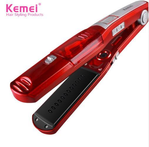 Kemei Steam Hair Straightener Irons Professional Electric Hair Straightening Flat Iron Hair Styling Tools KM-3011