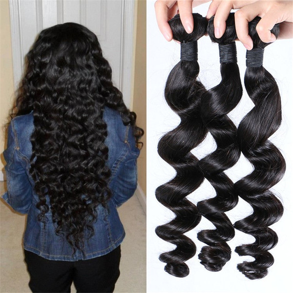 Peruvian Hair Wefts 3pcs Wholesale Price Virgin Loose Wave Human Hair Bundles High Quality FDSHINE HAIR