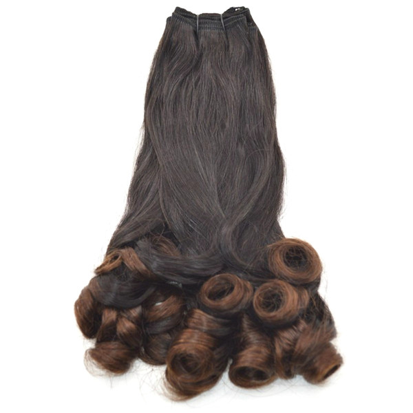 Brazilian Funmi Human Hair 3 Bundles Natural Black Double Drawn Virgin Hair Weaves 8-30 inch FDshine