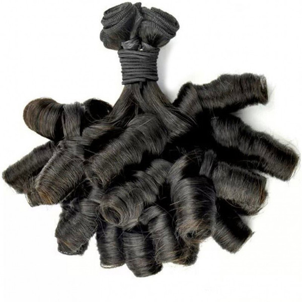 Aunty Fummi Bouncy Curls Unprocessed Peruvian Virgin Hair Fumi Hair Bundles Nigerian weaves Spiral Curl LaurieJ Hair
