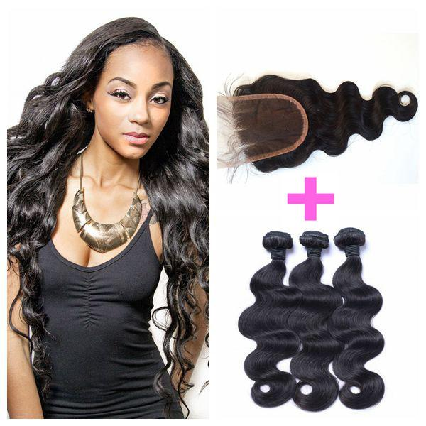 Cheap Lace Closure With Bundles Peruvian Body Wave Human Hair 4x4 Lace Closure With Baby Hair LaurieJ Hair