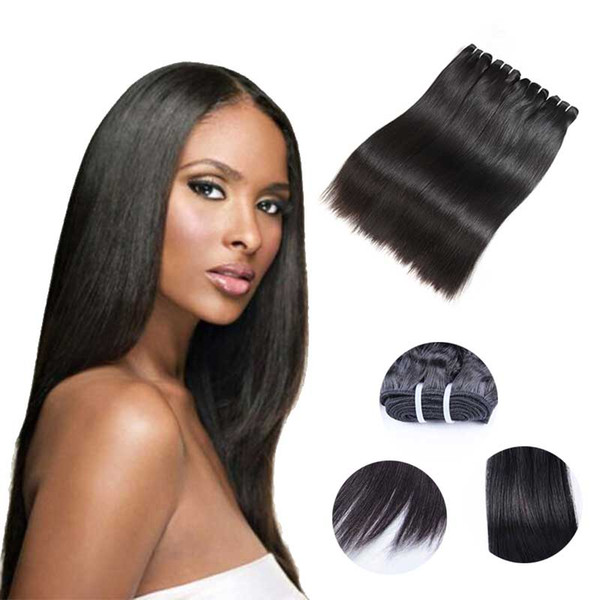 Brazilian Virgin Hair Straight Hair Natural Black 100% Unprocessed Virgin Weaves 100G/Pcs Human Hair Extensions