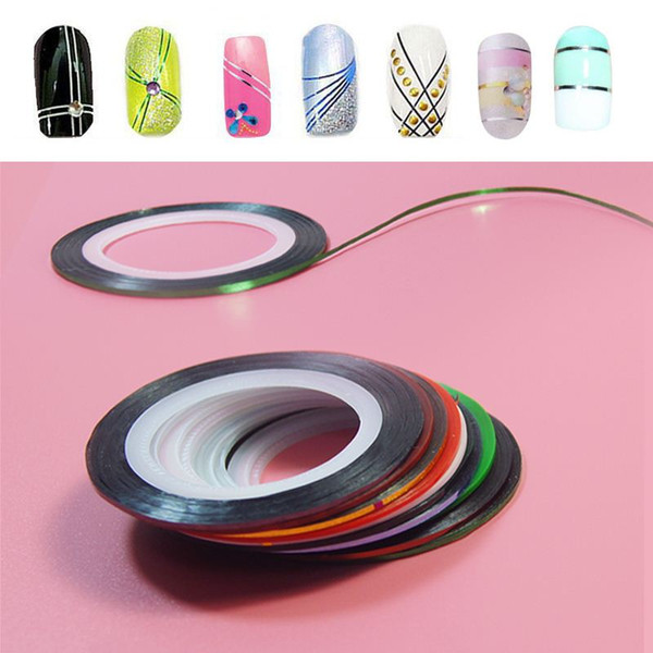 10Pc/set Mixed Colors Nail Rolls Striping Tape Line DIY Nail Art Tips Decoration Sticker Nails Care for nail Polish makeup Tools