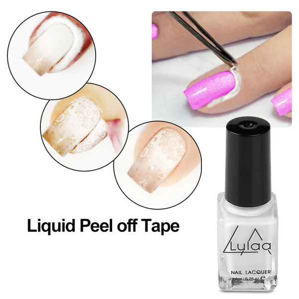 Peel Off Liquid Tape From Nail Polish Protection Finger Skin Cream White Latex Protected Glue Easy Clean Tape Cream Nail Polish