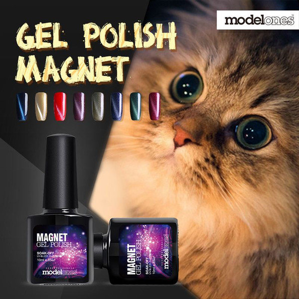 Modelones Fashion 1Pcs 10ml 3D UV Nail Polish LED Cat Eyes Color Soak Off UV Gel Polish Lacquer