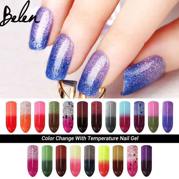 Belen 7ml Chameleon Temperature Change Color UV Gel Polish Varnishes Soak-off Gel Nail LED Lamp Gel Lak UV Nails Verniz Lacquer