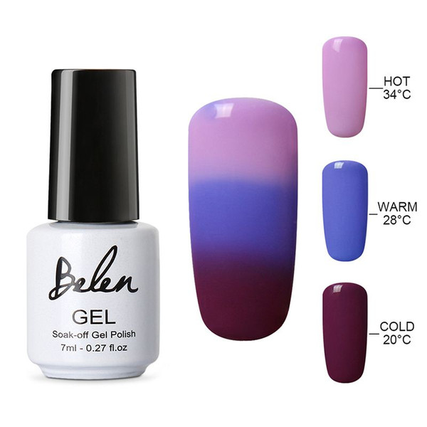 Belen Thermal Color Changing Nail Gel Polish Soak Off UV LED Gel Lacquer Gel Polish Chameleon Salon Soak Off Nail Art Color 4220
