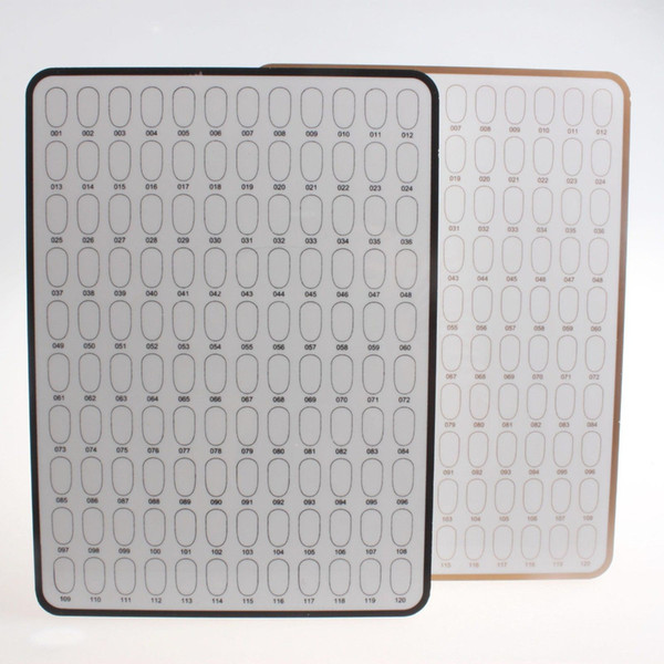 Brand New Black 120 Rooms For Nail Art Finish Tips Display Board Stand Nail display boards
