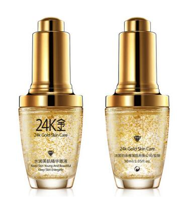 24K Gold Face Day Cream Hydrating Essence Serum Whitening Moisturizing Anti-Aging Women Face Skin Care 2pcs