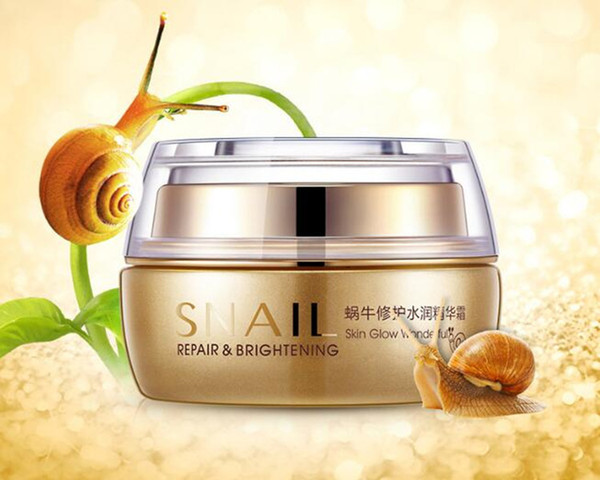 BIOAQUA Natural Snail Essence Cream Facial Cream Moisturizer Whitening Skin Anti Aging Oil Control Shrink Pores Skin Care
