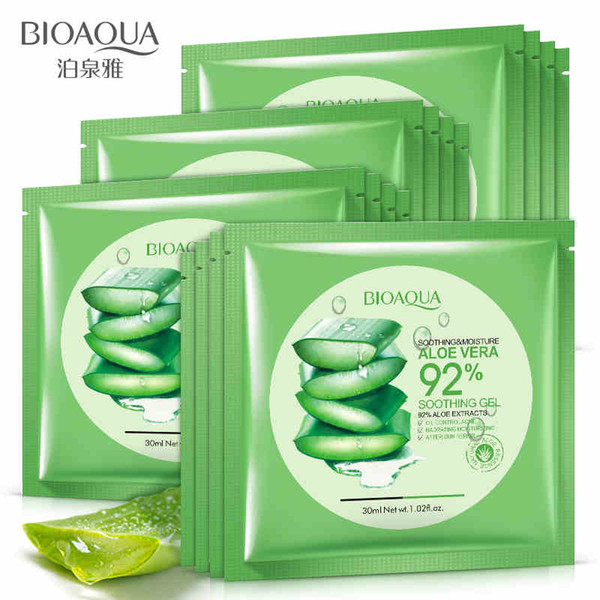 BIOAQUA Natural Aloe Soothing Gel Moisturizing Mask 30G Aloe Hydrating Nutritious Natural Moisturizer Cream Skin Care Cosmetics