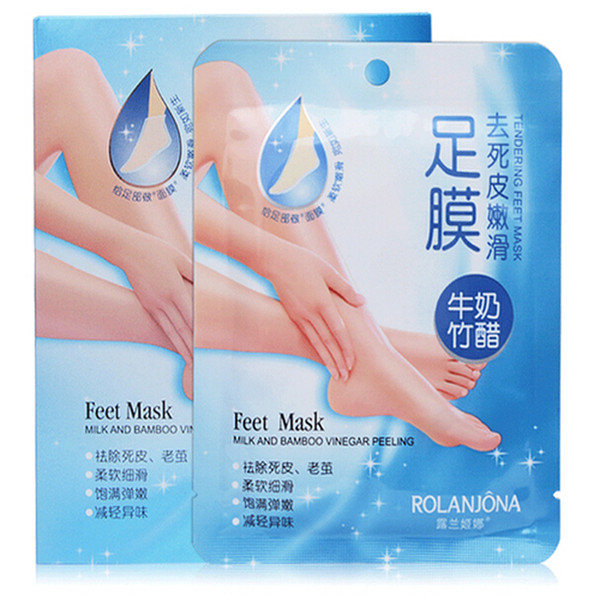 Exfoliating Foot Mask Soft Feet Remove Hard Dead Skin Dry Skin Treatment Rolanjona Feet mask DHL free from wogoto