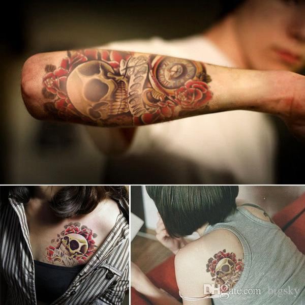 Free shipping. body tattoo stickers, waterproof and sweat flower and large arm tattoo stickers arge arm tattoo stickers