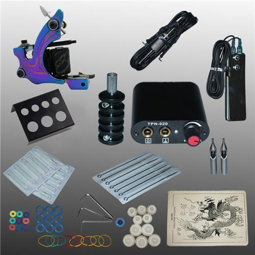 Wholesale New Arrival 1 set Tattoo Kit Power Supply Gun Complete Set Equipment Machine 1102104kitA