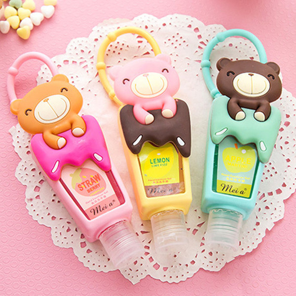 Lovely Teddy Bear 1pcs hung Travel portable Mini Plastic Bottle hand sanitizer/Makeup fluid bottle Bathroom products