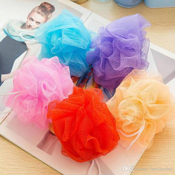 Wholesale Cool Ball Bath Towel Scrubber Body Xleaning Mesh Shower Wash Sponge Product Free Shipping