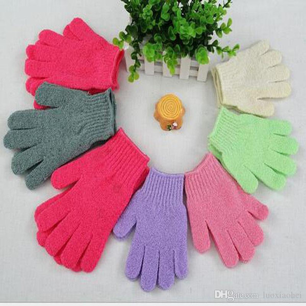 Wholesale Feel good New Arrival Scrubber Skid resistance Body Massage Sponge Gloves Shower Exfoliating Bath Gloves Exfoliating Fiber massage