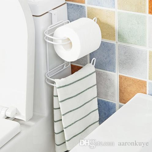 Free Shipping Simple Design double-deck Toilet Paper Holder Bathroom Paper Holder Toilet Paper Towel Roll Holder Rack
