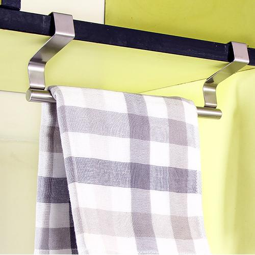 Free shipping multi-purpose stainless steel single towel bar, door-back rag rack, small 23cm-36cm towel bar home supplies
