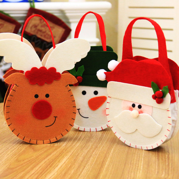 New Christmas Gift Bags Merry Christmas Candy Bags Christmas Santa Claus Xmas Gifts Holders Party Decoration Deer Bag