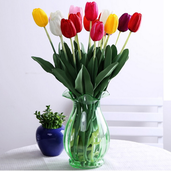 Artificial Flowers Tulip Simulation Wedding Home Party Decorative Flowers Party Decoration Display Flowers Colorful Simple