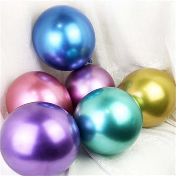 10pcs 12inch Pearl Latex Metallic Helium Balloons Birthday Baby Shower Wedding Unicorn Mermaid Party Decoration CPC14