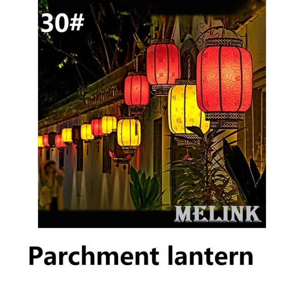30# Parchment lantern Height 30cm Decoration fuction China Chinese traditional palace lantern Fit for Celebration Festival Opening Hotel etc