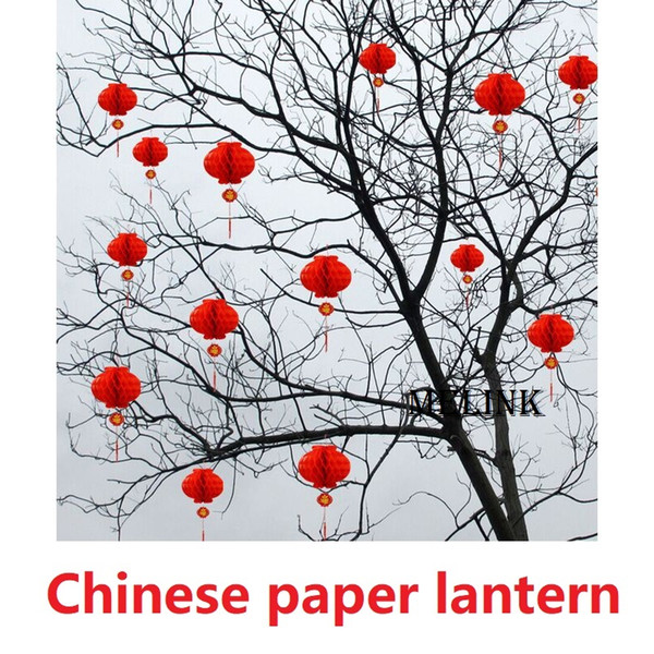 30cm Diameter Chinese paper lantern Red Waterproof Decoration function Celebration Opening Store Shop Home Party Festive decoration