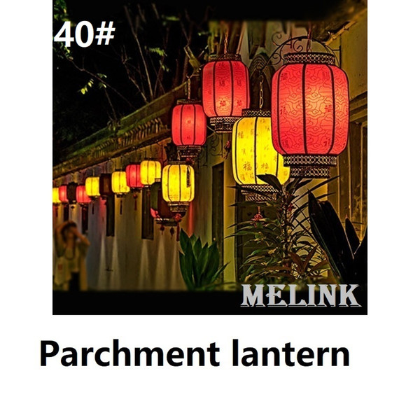 40# Parchment lantern Height 40cm Decoration fuction China Chinese traditional palace lantern Fit for Celebration Festival Opening Hotel etc