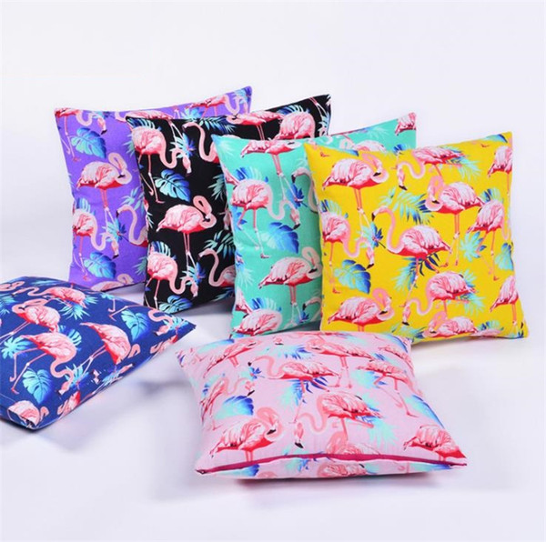 high quality Office Hold Pillow Cover Decor Cushion Case Sofa Pillowcase Flamingo Cushion Cover 80PCS T5I041