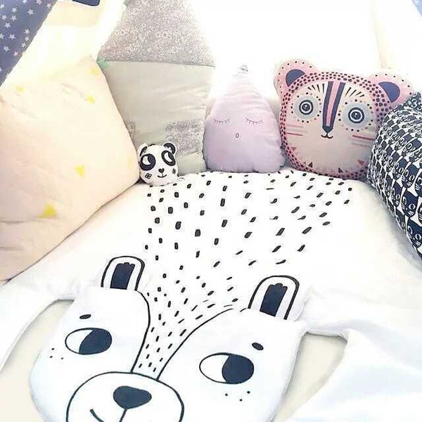 New design Forest section home blanket bear/ fox / panda / little raccoon / lion pattern creative blanket air conditioning blanket