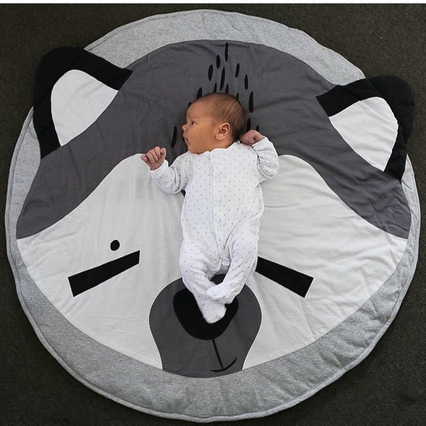 Round Map Pattern Baby Blanket Game Mat Kid Crawling Carpet baby Bedding Stroller Blanket best Children's Room decration