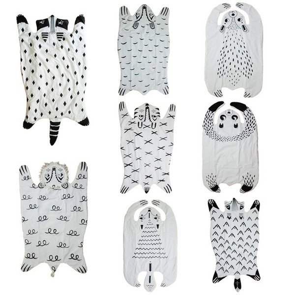 2018 Forest section home blanket bear/ fox / panda / little raccoon / lion pattern creative blanket air conditioning blanket