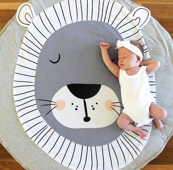 2018 Round Map Pattern Baby Blanket Game Mat Kid Crawling Carpet baby Bedding Stroller Blanket best Children's Room decration