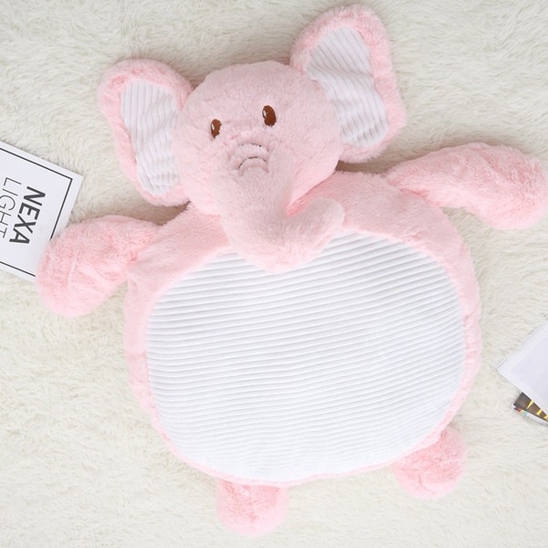 2018 Ins Baby Children Animal Plush Play Crawling Blanket Sleep Mat Play Mat Cotton Soft Relax Bear rabbit Elephant shape