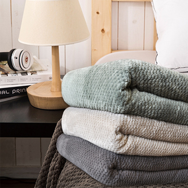 Blanket Green Dark Coffee / Sofa Coverlet/ Sheets / Towel / Blankets Air Travel bedspread for winter, gray comfortable blanket