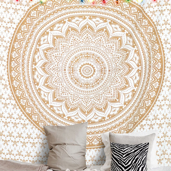 Floral cloth Mandala tapestry,multi-function tapestry, table cloth, wearable blanket cloth, 150*200cm decoration wall cloth