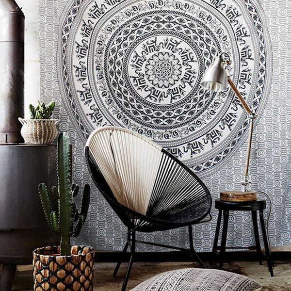 Bohemia style elephant wall hanging cloth ,multi-function tapestry 150*200cm, table cloth,bed cover,coffee bar decorative cloth blanket
