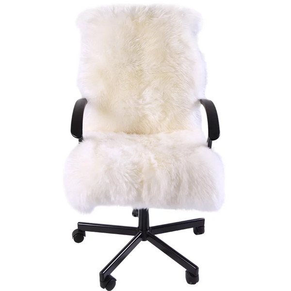 Special for winter whole sheep fur chair cover cushion 1.3P 60*130cm sheepskin rug for rocking chair cushion , sheep fur recliner mat