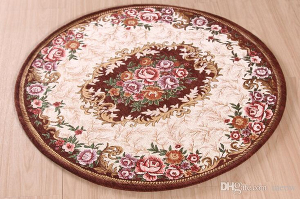 Round Carpets Mats Rugs Kitchen Living Room Bedroom Table Anti Slip Machine Wash Safe Acrylic Airbnb Style