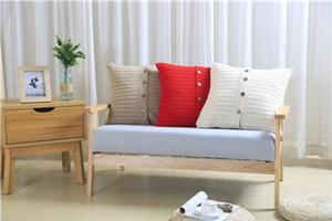 2017 New Hot Cotton Knitting Cushion Cover for Home Decorative Sofa Square Throw Pillow Case With Button