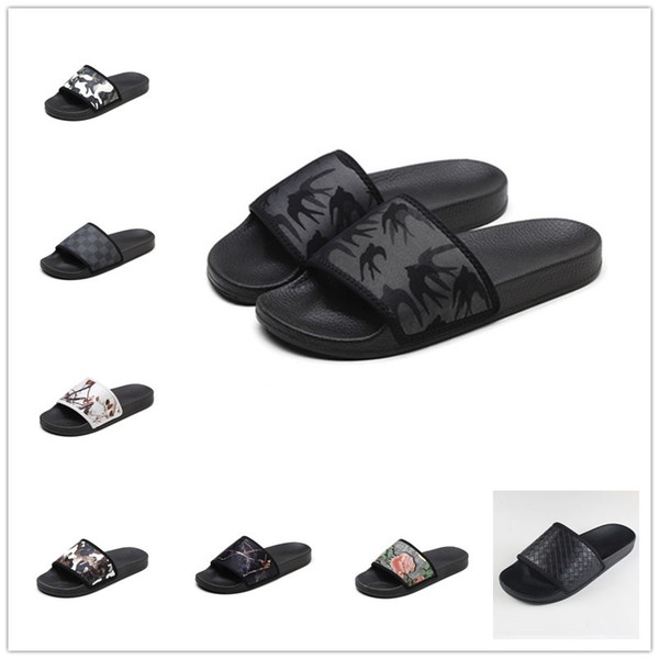 Men Women Sandals Designer Shoes Luxury Slide Summer Fashion Wide Flat Slippery mens Sandals Slipper Flip Flop size 35-45 Home Shoes Wear