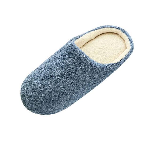 2019 Unisex Winter Home Floor Soft Men Indoor Slippers Outsole Cotton-Padded Shoes Home Slippers Short Plush Floor Bedroom Shoes